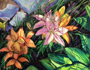 PSA Award Lillies by Heather Hendley
