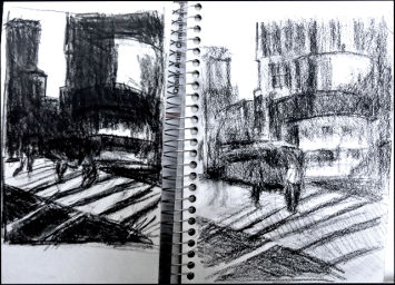 Notan and value sketch by Joyce Lister